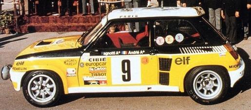 R5 turbo de jean ragnotti 1981