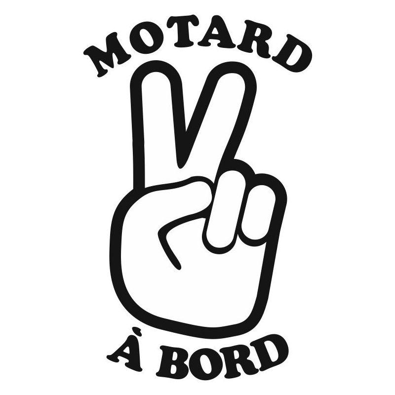 Stickers motard bebe a bord