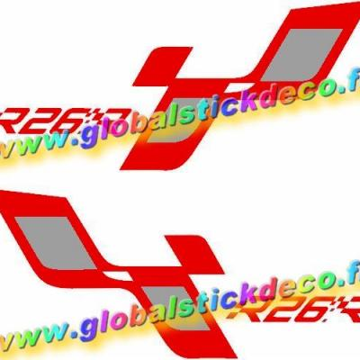 0003442 renault megane sport r26r bumper general panel decals stickers 550 1