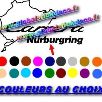 0008653 porsche 911 carrera nurburgring decals stickers 550