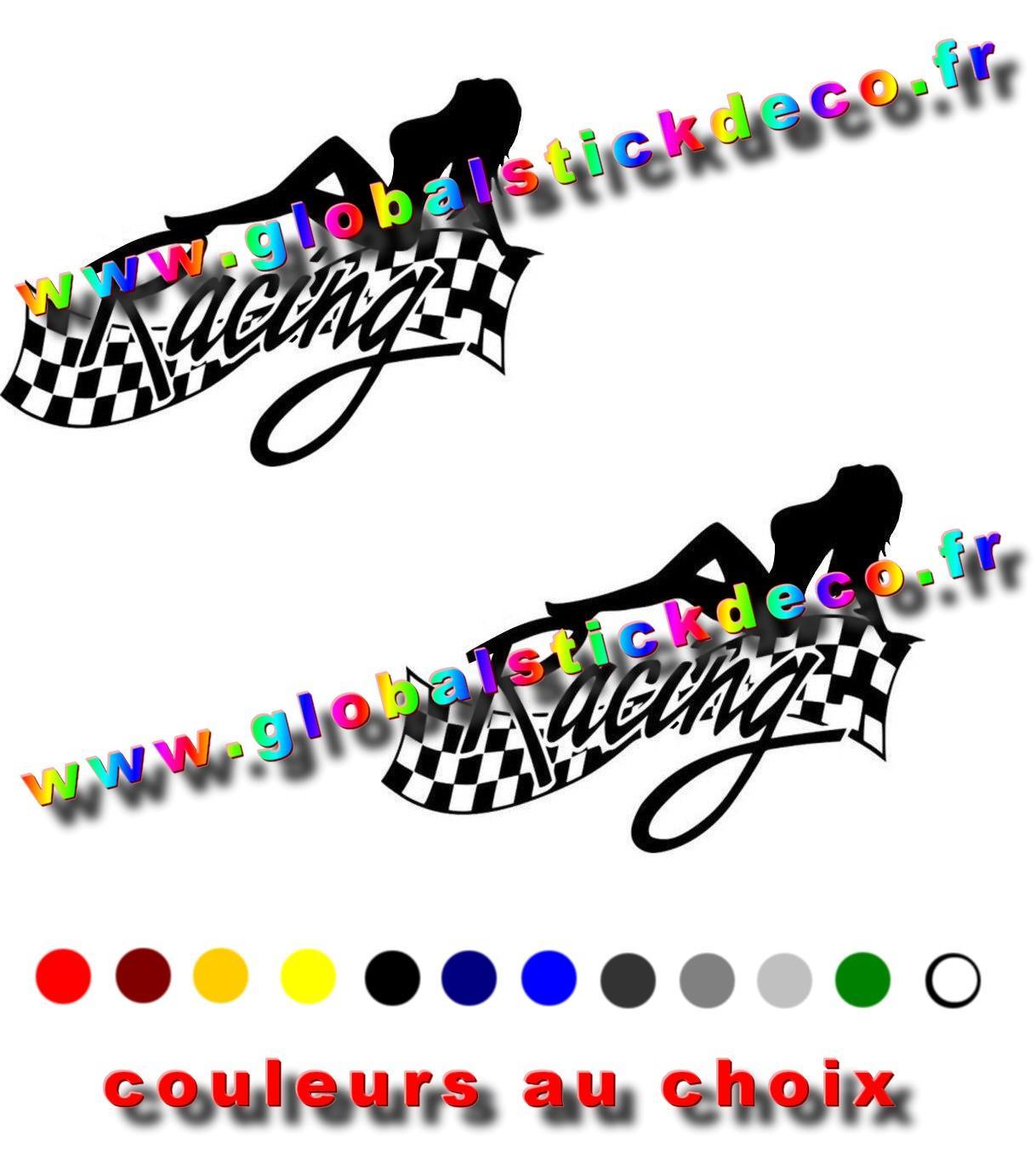 14 9 cm 10 8 cm sexy dame course finition vinyle autocollant voiture style dr le jpg 640x640 copie
