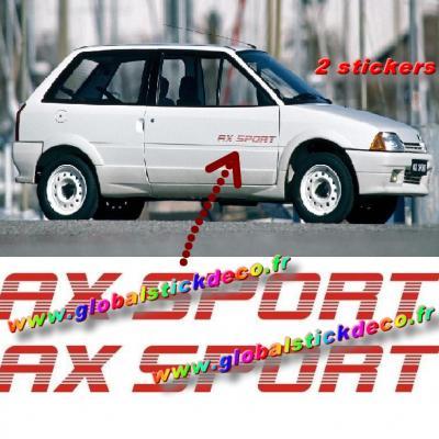 158491966 citroen ax sport sticker autocollants decals adesivi