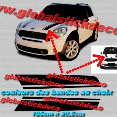 2 bandes capot mini countryman