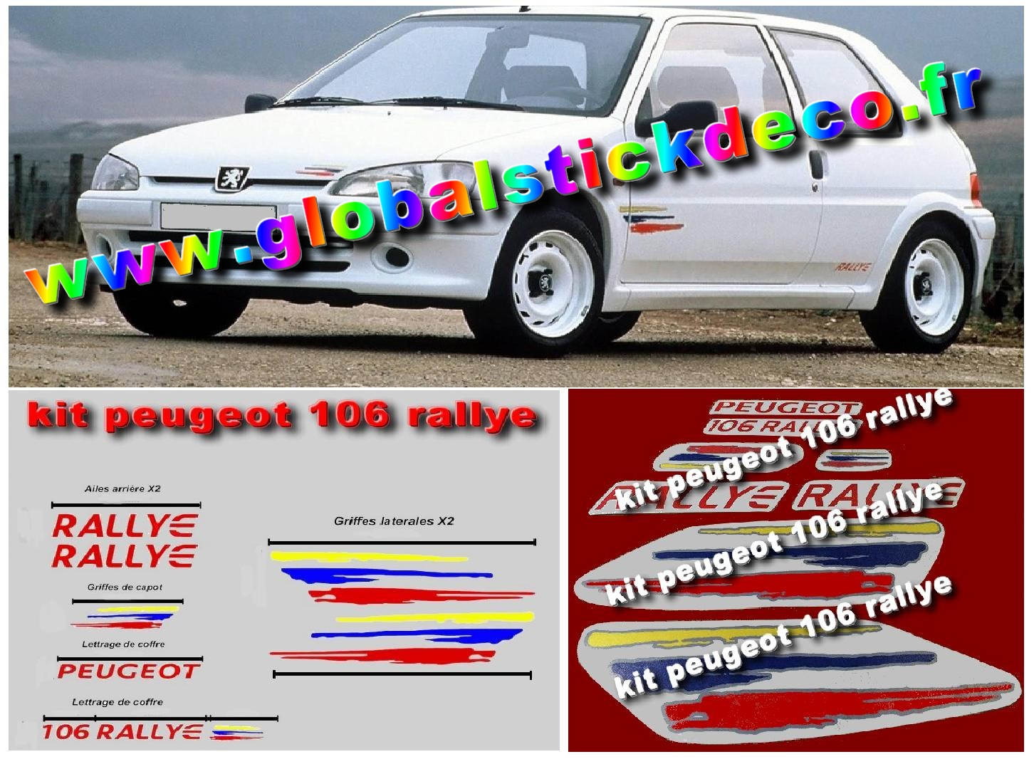 Autocollant Vintage Citroen Grand Format Rallye 20cm
