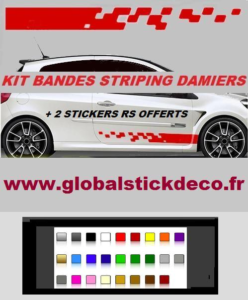 Bandes damiers courte clio rs