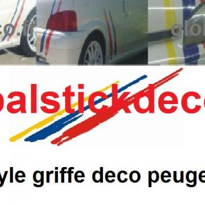 Bandes style griffe peugeot sport