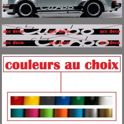 Bandes turbo pour porsche couleur course 1