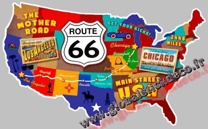 Carte route 66 global copie