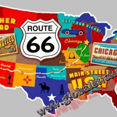 Carte route 66 global copie