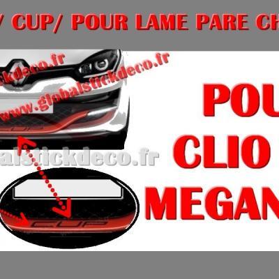 Cup pour lame avant clio rs megane rs
