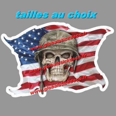 Drapeau usa skull