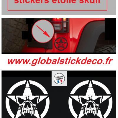 Etoile tete de mort jeep sticker shop