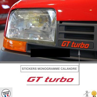 Gt turbo calandre photo