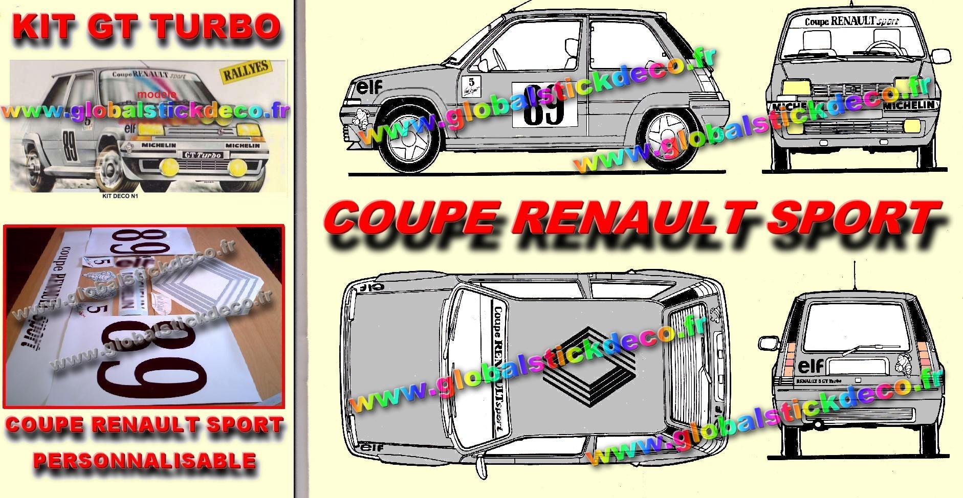 Kit coupe renault sport 3 modeles 1