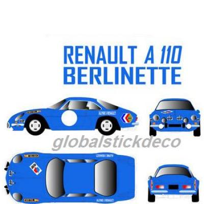 Kit deco rallye berlinette