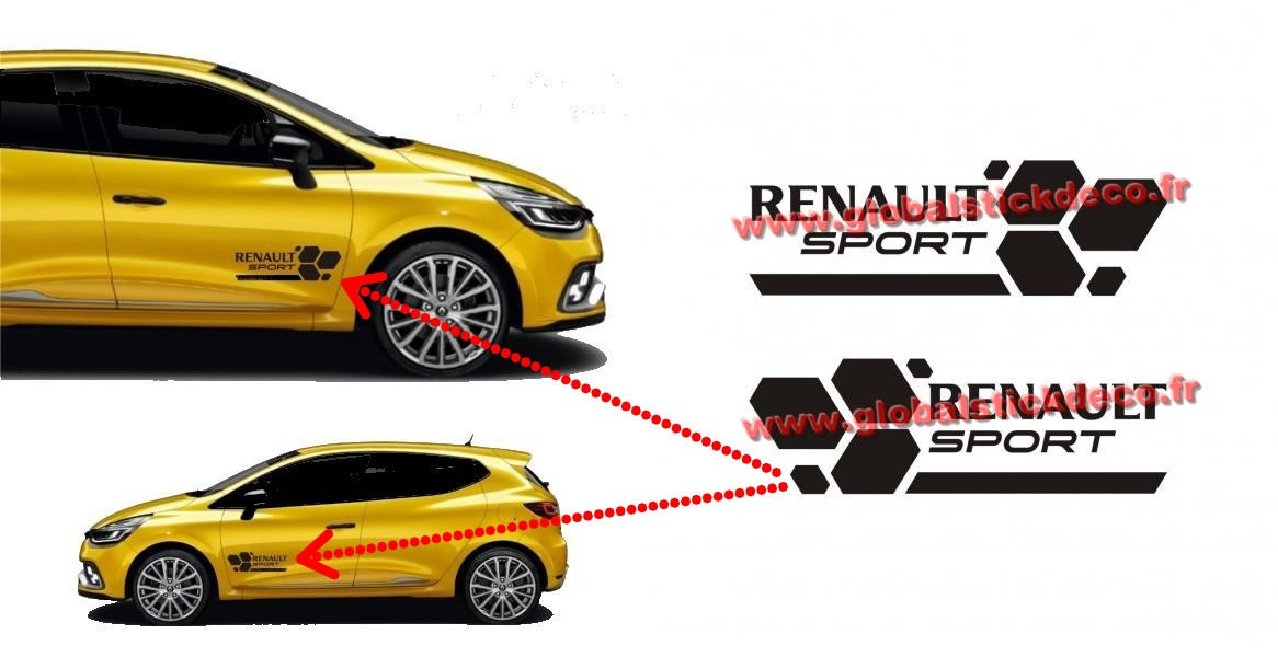 Kit stickers renault sport rs16