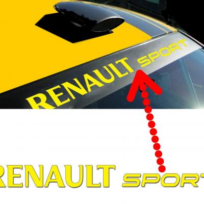Lettrage renault sport