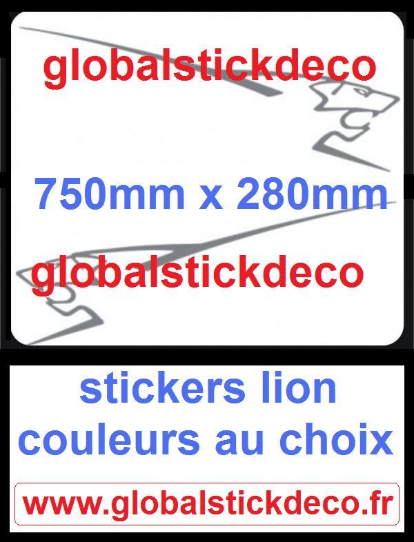 Lion peugeot e stickers
