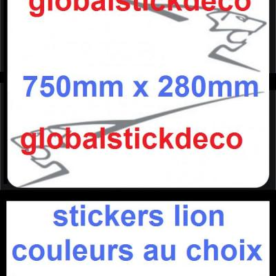 Lion peugeot e stickers