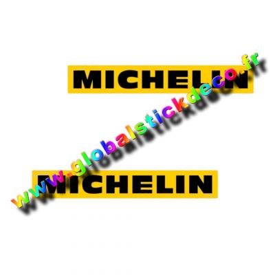 Lot de 2 stickers michelin pour alpine renault et renault gordini