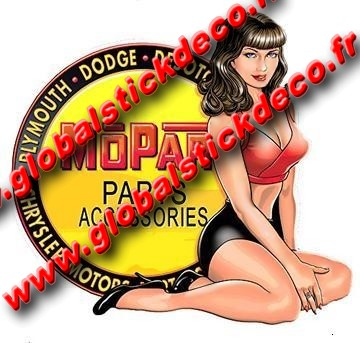 Mopar parts accessories pin up decal 360x