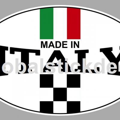 Ovale italie couleur course