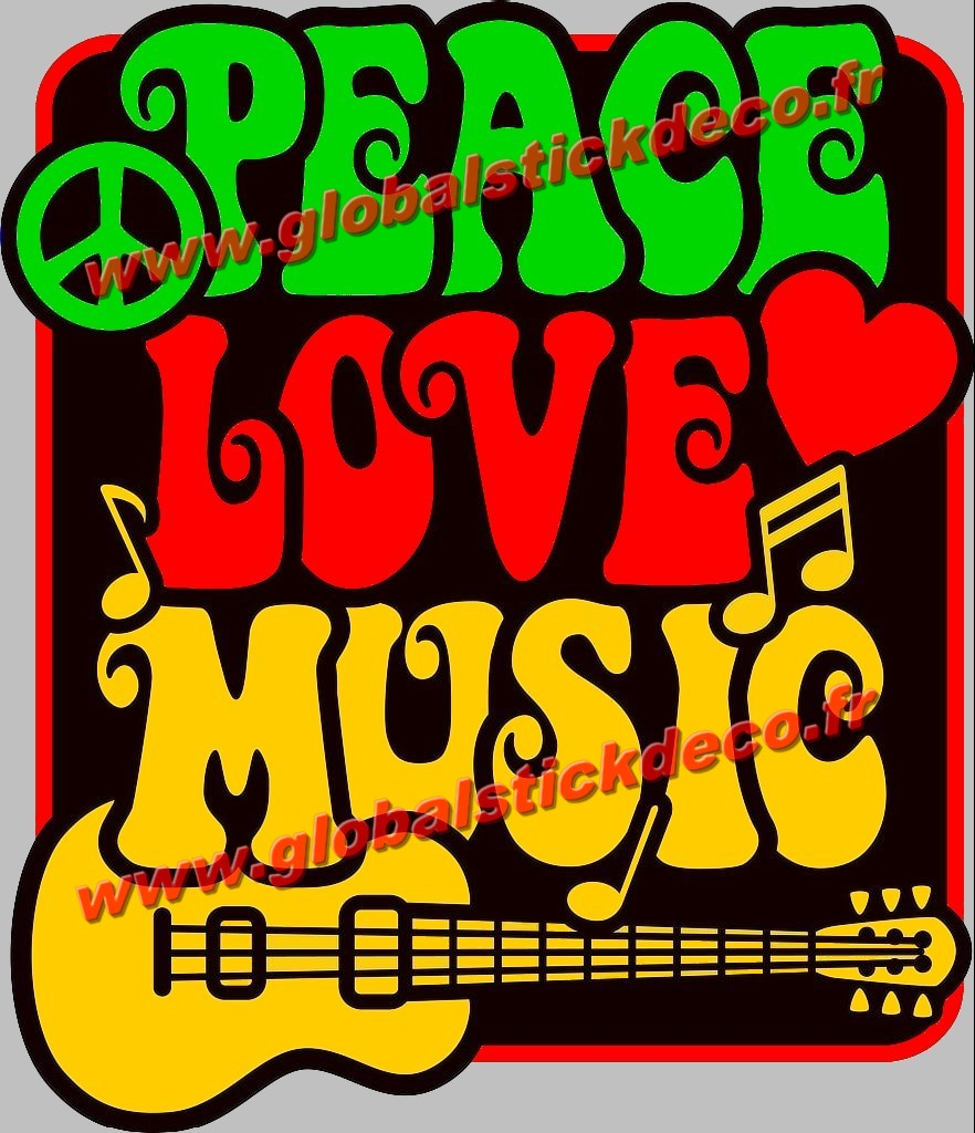 Peace and love music copie