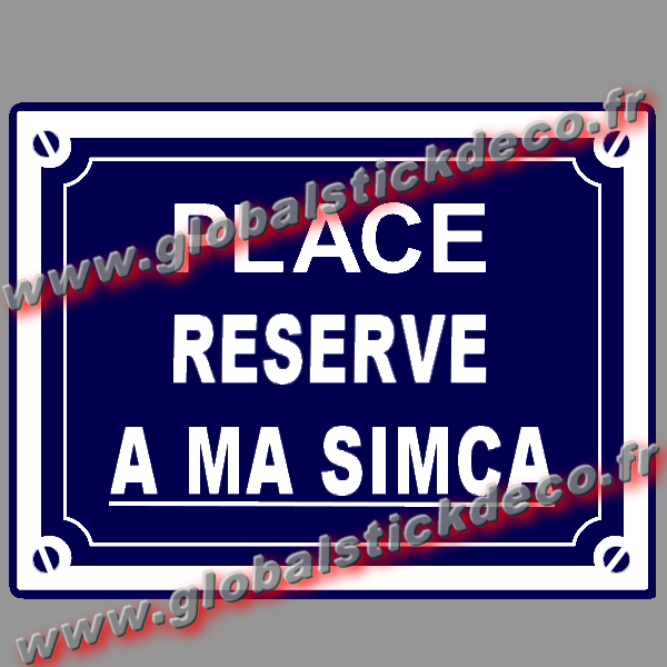 Place reserve a ma simca vynil