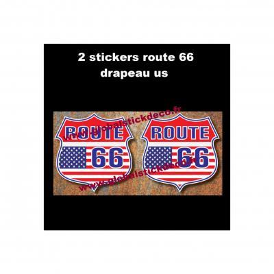 Route 66 drapeau us