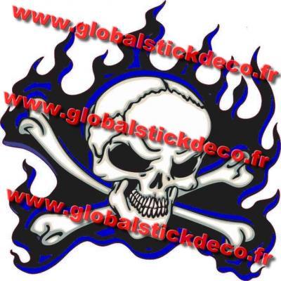 Skull flamming blue