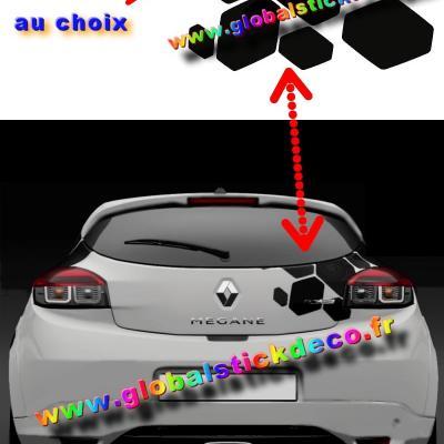 Sticker losanges de coffre renault sport rs cup pour clio twingo megane captur