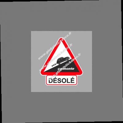 Sticker voiture desole 2cv copie 3