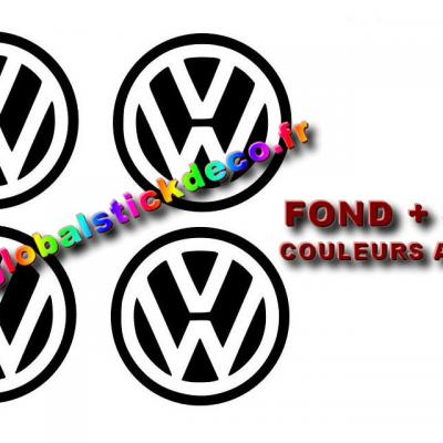 Stickers 4x centre de roue vw 60mm