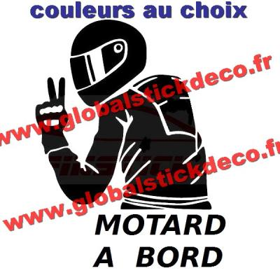Stickers j aime mon motards