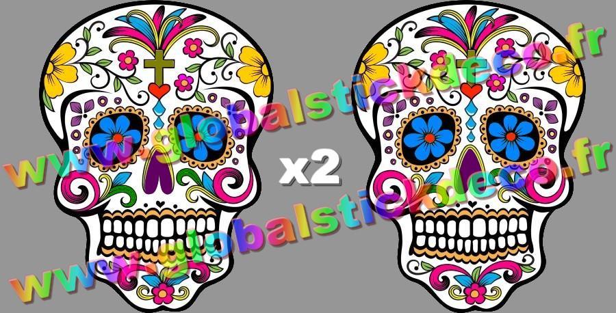 Stickers tete de mort mexicaine copie 2