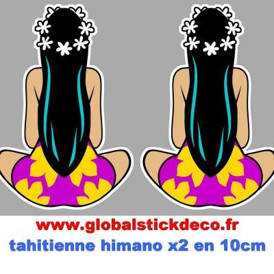 Tahitienne de dos
