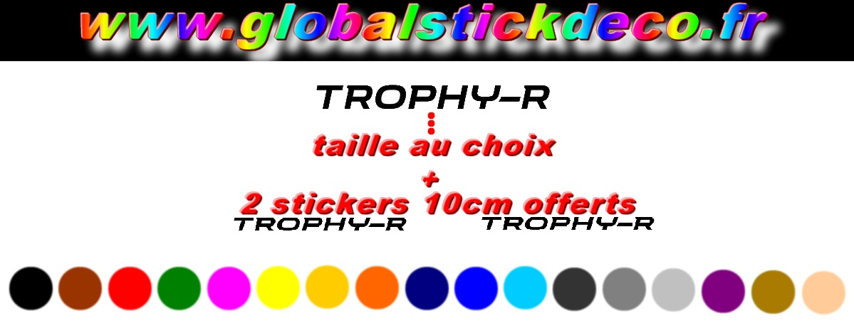 Trophy r stickauto