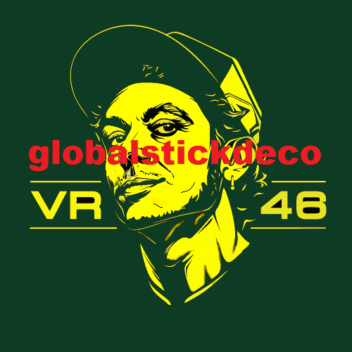 Valentino rossi emblem yellow